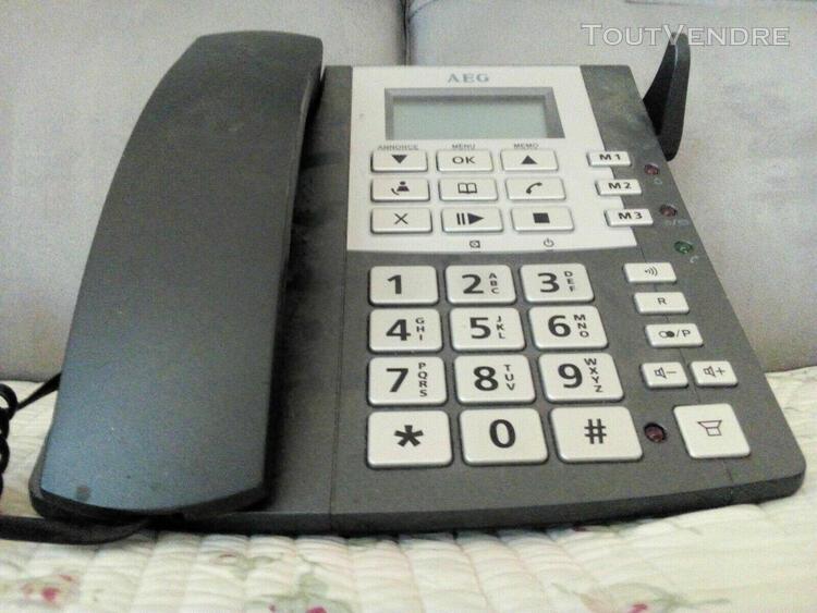 Aeg cosi 1856 / téléphone fixe / répondeur / main libre /