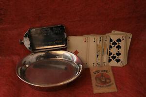 ancien presse cartes de café accompagné ancien jeu de