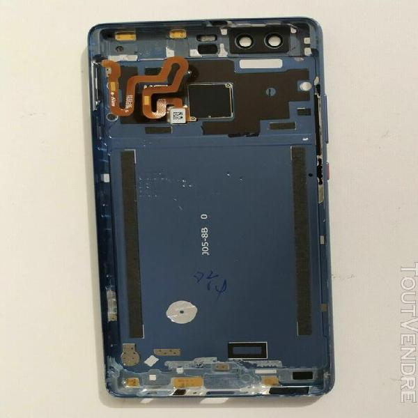 Coque arrière huawei p9 eva-l09 bleu cache batterie vitre