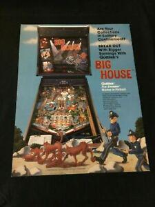 gottlieb big house flipper pinball flyer