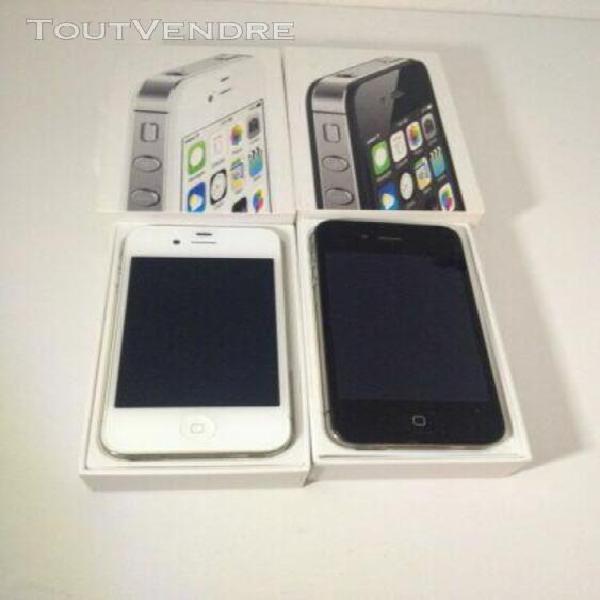 Iphone 4s noir/ blanc bloqué icloud lot de 2 iphone 4s