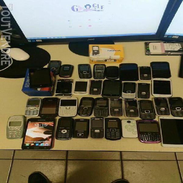 lot de 35 téléphones non teste l05