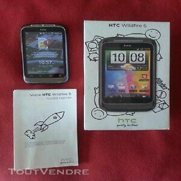 mobile téléphone portable htc wildfire s noir/gris vitre