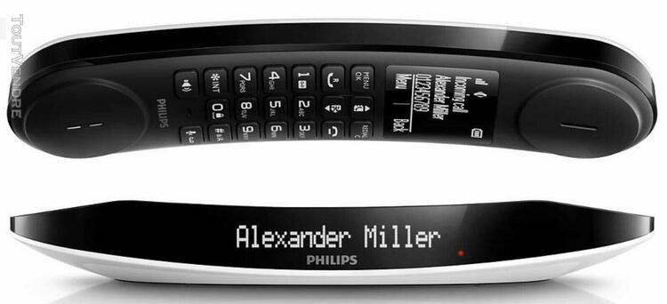 Philips luceo lot de 2 téléphones fixe design répondeur