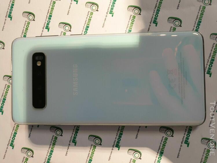 Samsung galaxy s10 128go blanc debloque ref: c 1984871