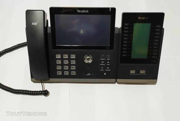 Téléphone yealink t48g& module d'extension 20 touches exp