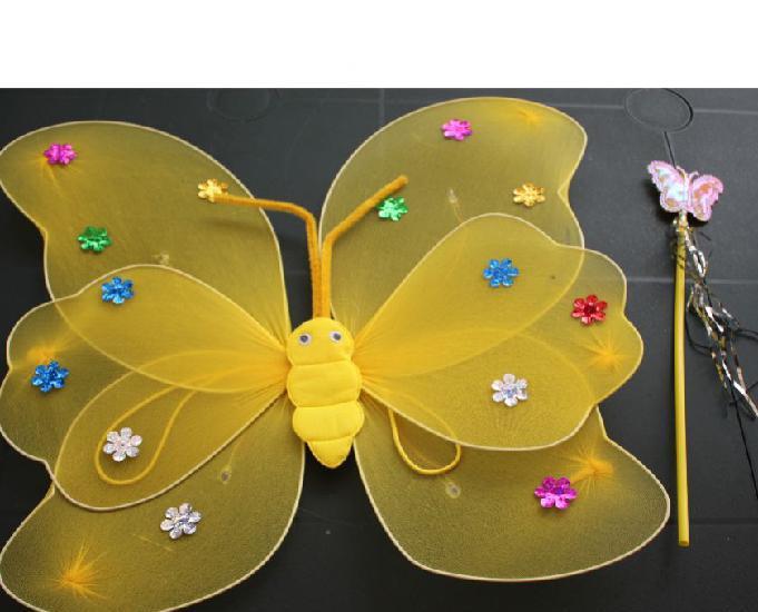 aile de papillon avec leds et baguette neuf