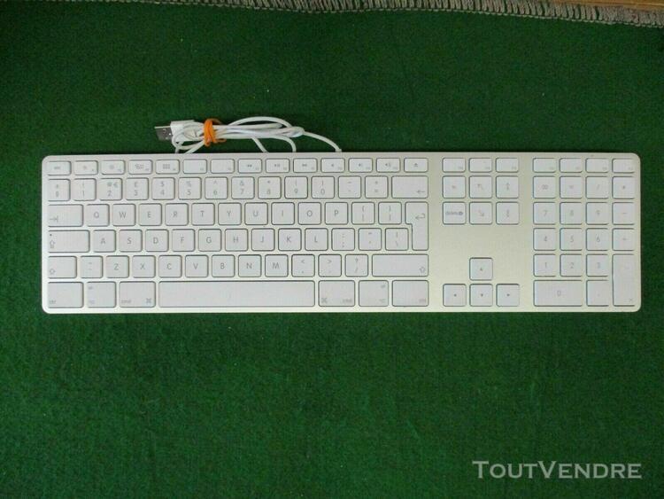 Clavier apple filaire a1243 avec pavé numérique qwerty