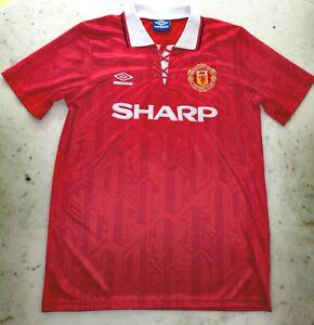 maillot eric cantona manchester united vintage taille l