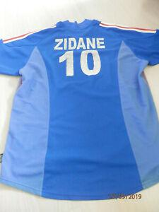maillot foot zidane adidas taille xl homme équipe france
