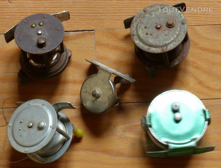 Vintage pêche - lot de moulinets anciens