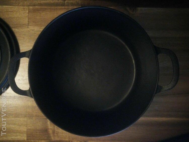 Cocotte marmite fonte godin n°7 noire mat très bel état