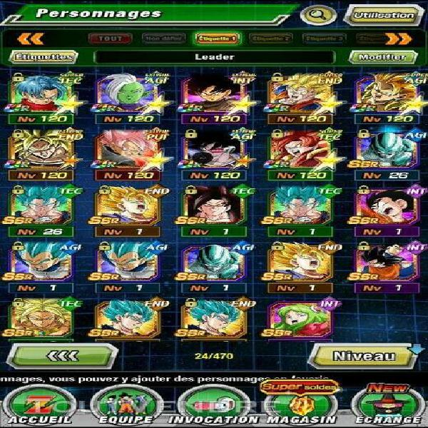 Compte semi fresh dokkan battle global android 7 lr  19 le