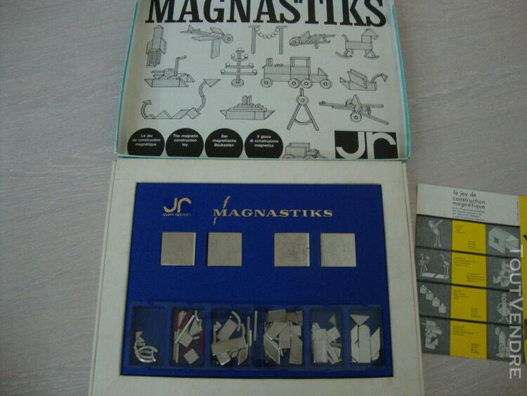 Jeux vintage magnastiks éléments aimantés a superposer