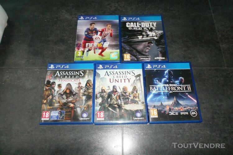 lot 5 jeux jeu ps4 tres bon etat