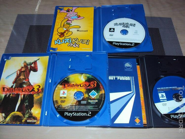 Lot console ps2 fat + wipeout fusion + devil may cry + kuri