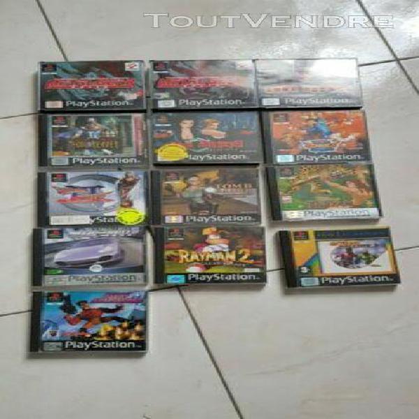 Lot de 13 jeux playstation 1 - complet- pal