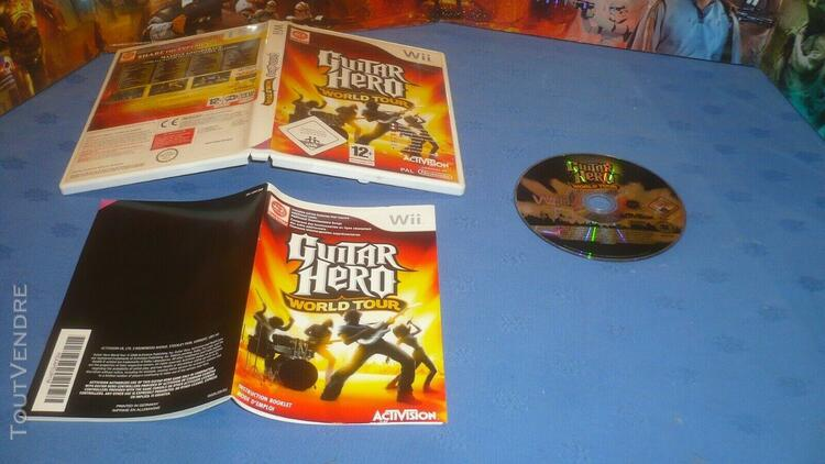 Nintendo wii guitar hero world tour eur complet