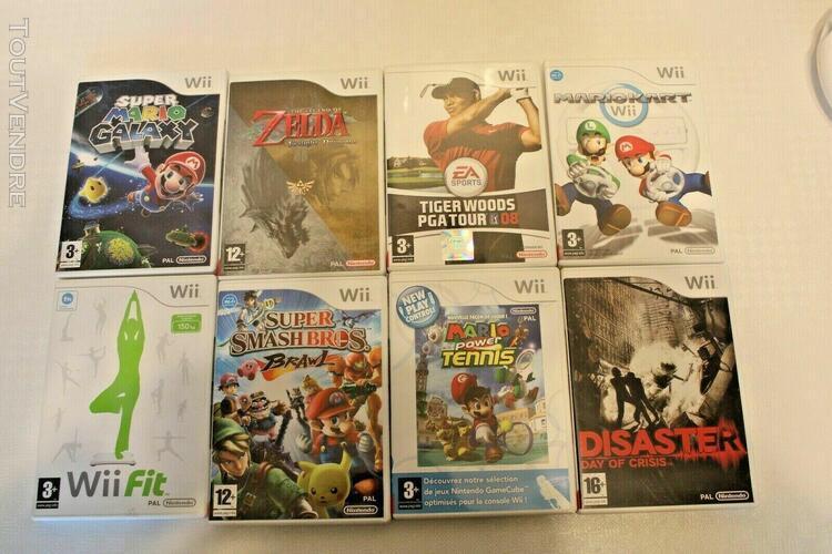 Nintendo wii sportsen boite + wii fit + 9 jeux +