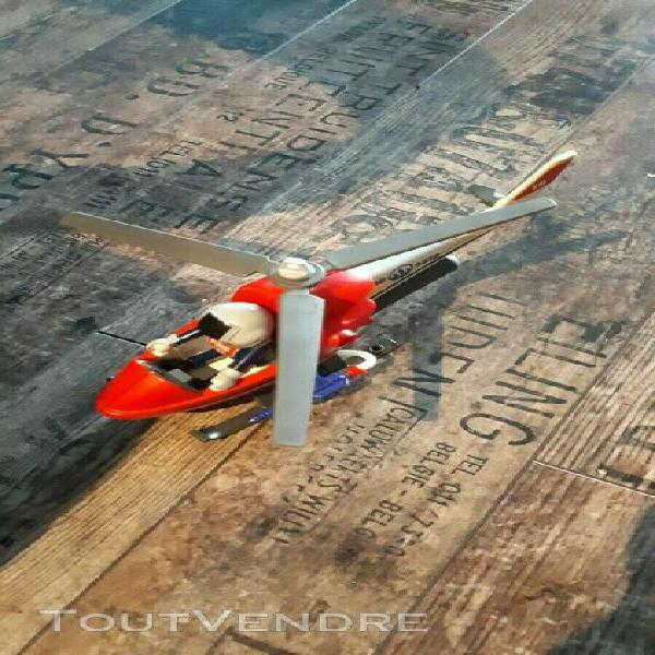 Playmobil: hélicoptère de pompier playmobil 4824 complet