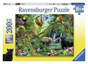 Ravensburger- puzzle animaux de la jungle 200 pièces, 12660