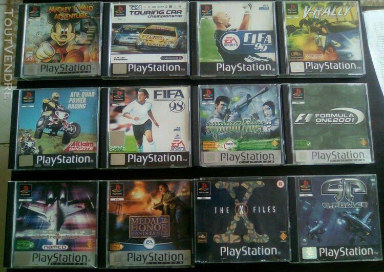 Sony playstation 1 ps1 - lot 21 jeux en boite - etat variabl