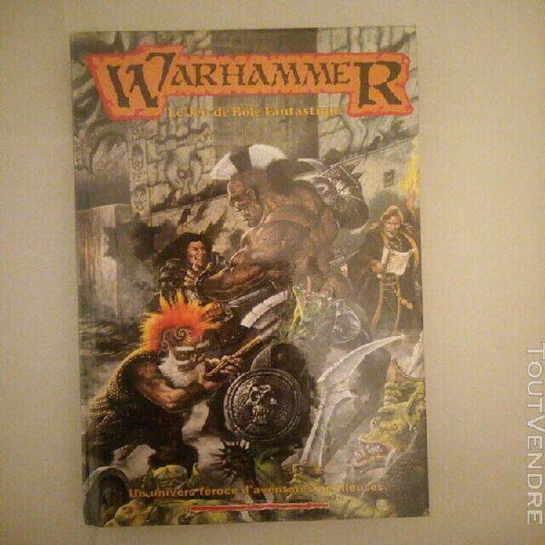 Warhammer 1ère édition - livre de base - jdr - tbe