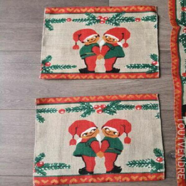 Décoration de table noël vintage christmas scandinave