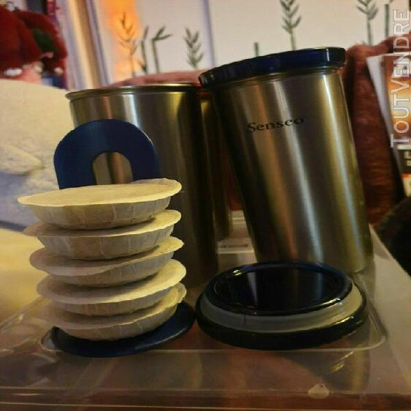 lot de 4 boites de rangement pour dosettes à café senséo