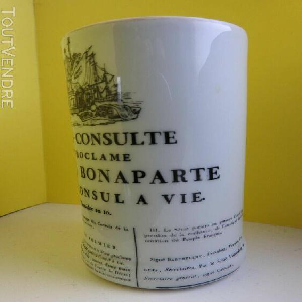 Pot à crayon porcelaine sénatus-consulte qui proclame