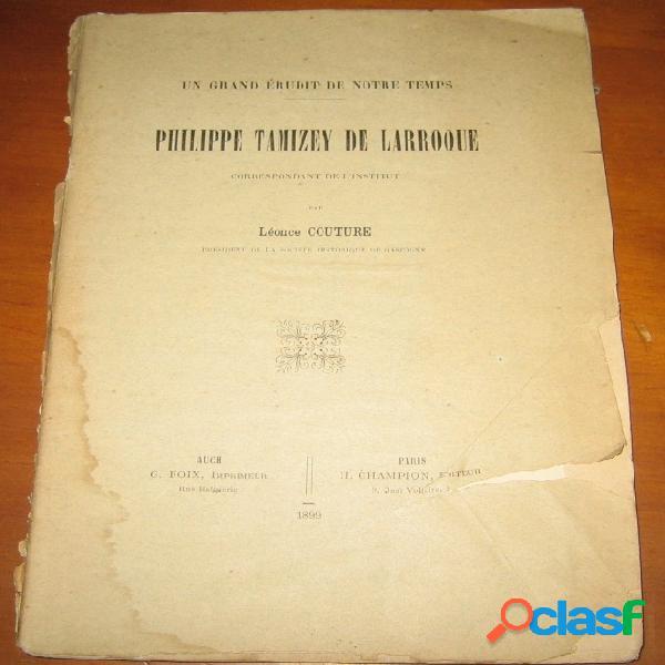 Philippe tamizey de larroque, léonce couture