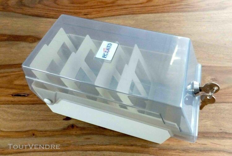 """Boîte de rangement pour disquettes 3,5"""" verrouillable - pc"""