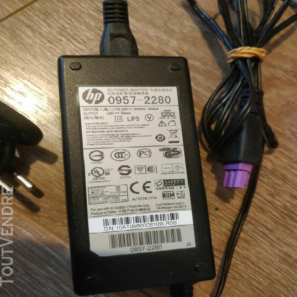 chargeur secteur imprimante hp modèle: 0957-2280