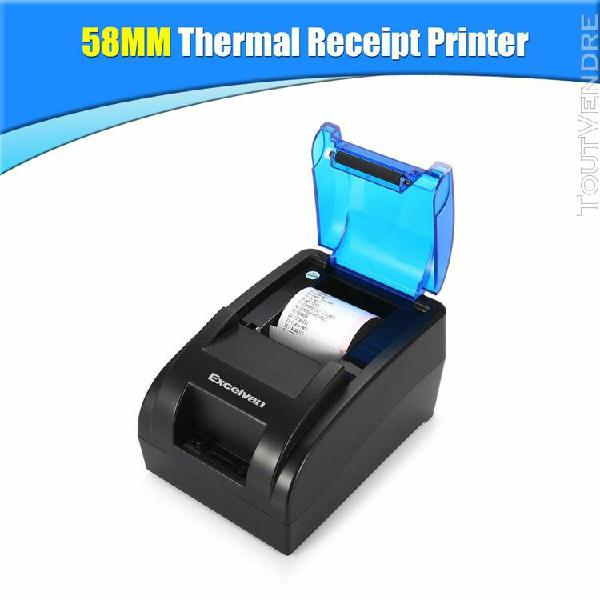 excelvan 58mm imprimante ticket thermique noir