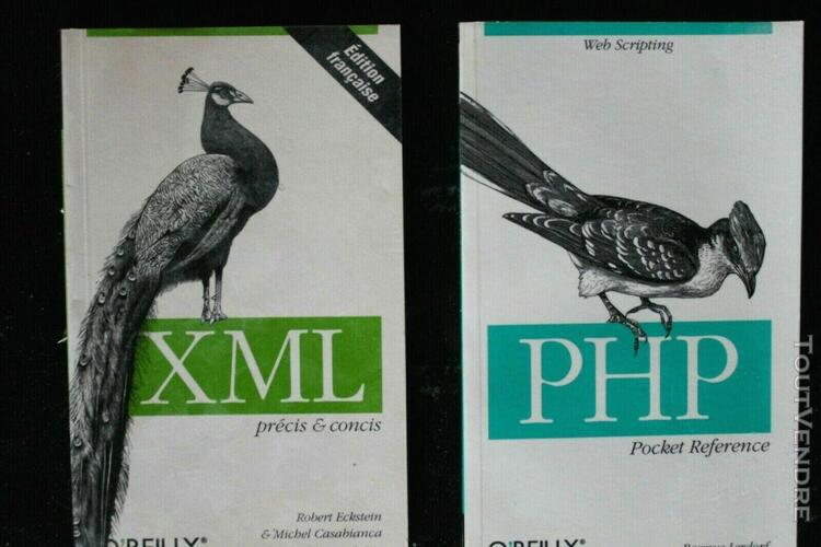 Lot livres informatique php xml web o' reilly html langage p