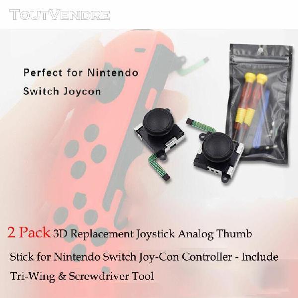 paquet de 2 remplacement 3d joysticks thumb stick analogique