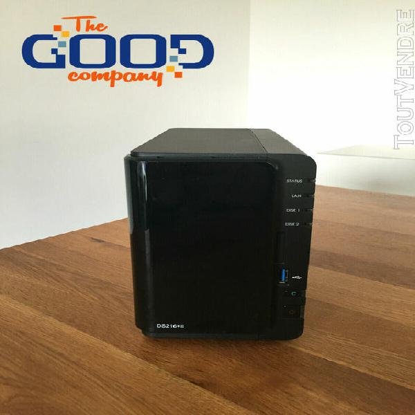Synology nas ds216+ ii dual core avec 4 to extensibles + gar