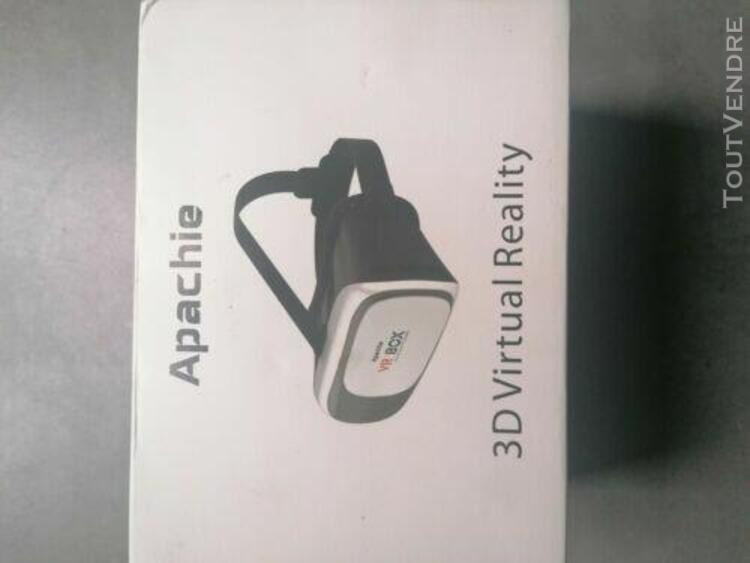 Vr box lunettes casque 3d de réalité virtuelle compatible
