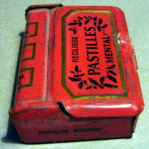 boite pyrogene ancienne - pastilles mental