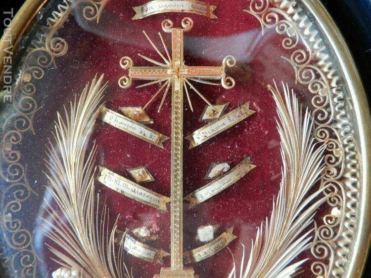cadre reliquaire circa fin xix°