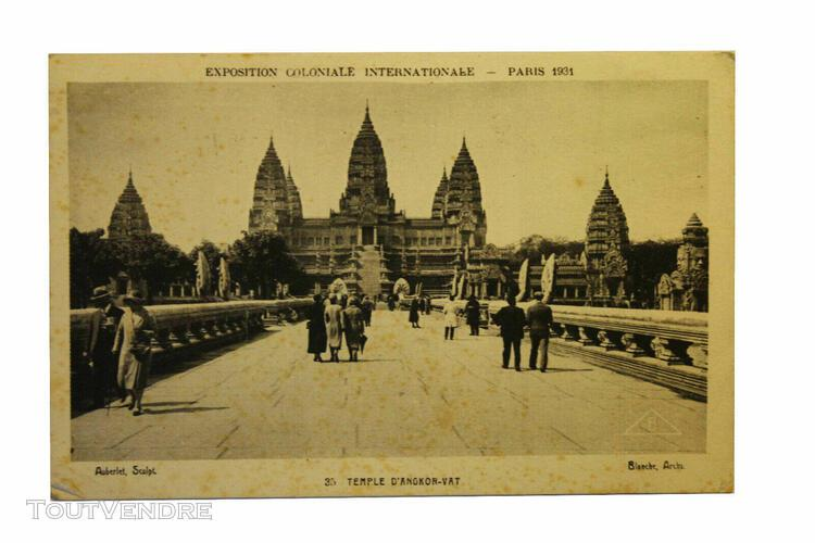 carte postale ancienne expo coloniale de 1931
