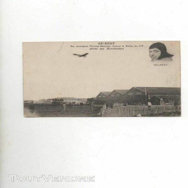 carte postale encienne gilbert sur monoplan
