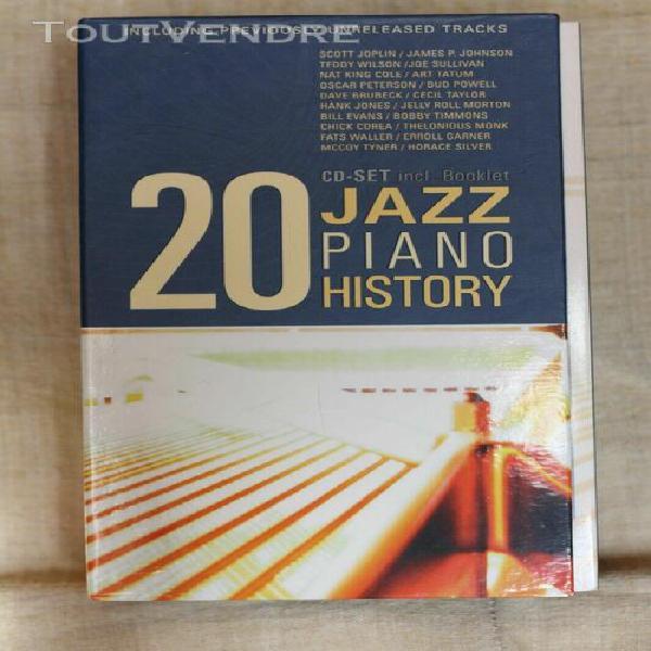 Coffret 20 cd jazz piano history (livret inclus) état très