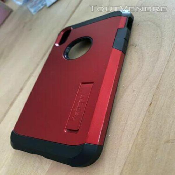 Coque spigen tough armor iphone xr rouge