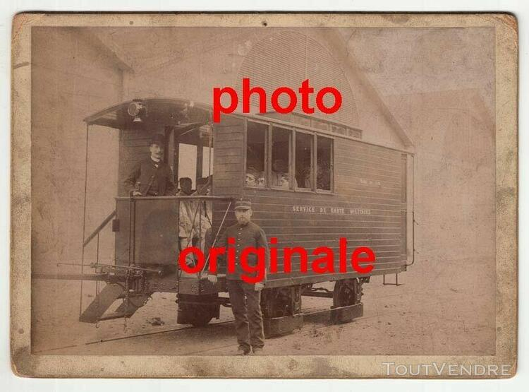 grande photo orginale wagon sanitaire chemin fer grande guer