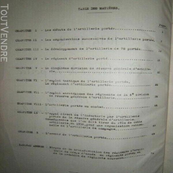 l' artillerie de 75 portée 5e di réserve générale
