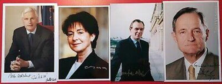 lot autographes photos dedicacees personnalites politiques