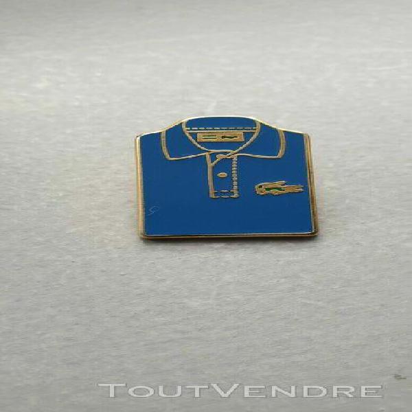 rare pin's polo lacoste base dorée variante 6 - signé
