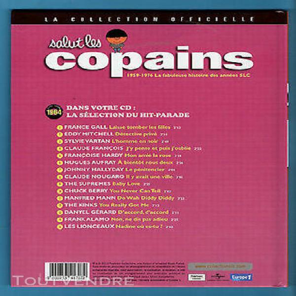 Salut les copains - collection officielle livre + cd 1964