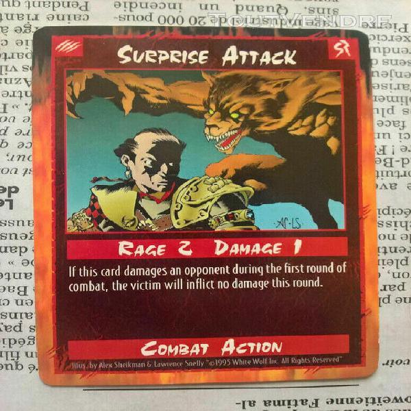 surprise attack - rage apocalypse ccg - unlimited - 1995 - m